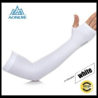 Model Terbaru Aonijie - Arm Sleeves - Sunscreen Cuff - White Limited