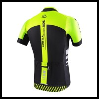 Paling Murah Baju Jersey Sepeda Cheji Kuning Flo Hitam - Premium (Baju