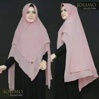 Jilbab Ceruti Khimar 2 Layer LV Pinguin Hijab Syari Pet Antem