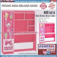 Meja Belajar Anak Perempuan Cewe Motif MBB 6616 Pink