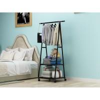 Triangle Stand Hanger Rak Buku Tempat Gantung Baju Pakaian Multifungsi