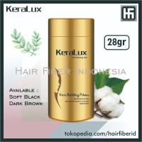 New Keralux 28gr Hair Fiber Building Concealer Like Caboki Fully Dexe