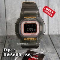Jam tangan G Shock DW-5600 Anniversary Black Hitam digital pria & anak