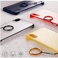 SAMSUNG GALAXY A70 Transparant Frameless Hard Case +Gantungan/Tali