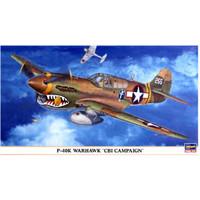 pesawat P-40E War Hawk 1/48 hasegawa model kit