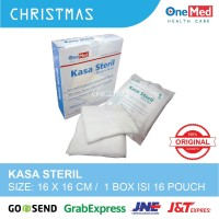 Kasa Steril Onemed 16x16 cm isi 16 lembar