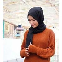 Premium RoundHand Secker Sweater Outer Wanita Lengan Panjang