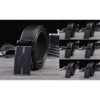 ikat pinggang kulit pria otomatis model rel leather men belt import