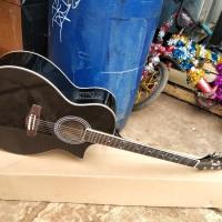 gitar akustik elektrik cort kumis new