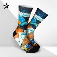Kaos Kaki Casual Premium - Abstract Paint - Starfight
