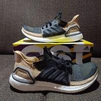 Sneakers Adidas Ultra Boost 19 Core Black, Raw Sand keren Bandung .