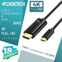 CHOETECH CH0018 TYPE C TO HDMI 4K @ 30Hz Thunderbolt 3
