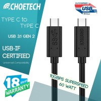 Type C to Type C Cable USB 3.1 Gen 2 - 10 Gbps CHOETECH A3002