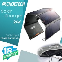 Solar Charger 24W Smart IC Chip CHOETECH SC003 Dual Port