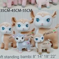Import Boneka Cute soft Rusa Bambi 35CM Souvenir kado ultah SAFARi