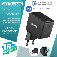 Wall Charger 18W Power Delivery 3.0 / Quick Charge Choetech Q3003