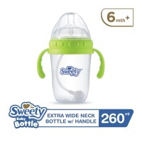 Sweety Baby Bottle Extra Wide Neck 260ml Green