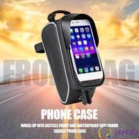 Tas Mount Frame Depan Sepeda Gunung Anti Air dengan Holder Smartphone