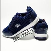 Sepatu Ando Willow Biru Tua/Navy Casual Sneakers Sport Running Wanita