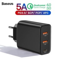 BASEUS Adaptor Charger PPS 60W 5A Quick Charging 4.0 3.0 with 3 Output