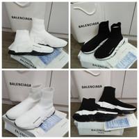 Sepatu Balenciaga Speed Trainer white / Black White