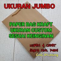 Paper Bag Kraft Jumbo, Kantong Kertas, Paper Bag, Ukuran Custom