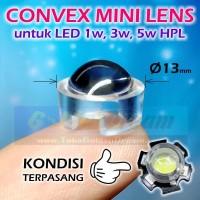 Convex Mini Lens utk LED HPL 1w 3w 5w Lensa Konveks Kecil 13mm Focus