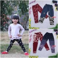 Legging Motif uk 4-5 Tahun / Leging Anak Perempuan Celana Panjang