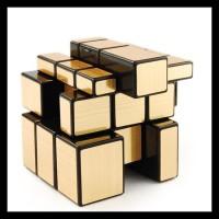 rubik mirror shengshou mirror black base gold sticker