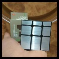 rubik mirror magic cube silver ( kemasan plastik )