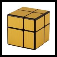 rubik mirror 2x2 qiyi speed cube gold