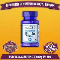 Biotin 7500 mcg 100 Tab | Untuk Rambut dan Kuku | Puritan's Pride