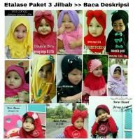 PAKET HEMAT Jilbab anak balita 6 bln - 3 th kerudung anak bayi hijab