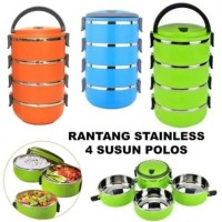 Eco Lunch Box Stainless Steel Rantang 4 Susun DOFF