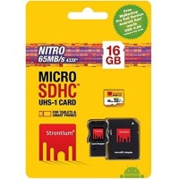 Strontium 16GB NITRO MicroSD with Card Reader up to 65 mb/s