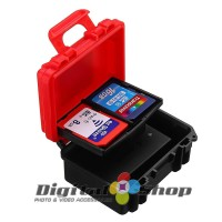 LENSGO D800 Dustproof XQD CF SD Card Case Anti-pressure Battery Box