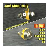 Soket mono body female in output gitar bass Jack jek input out ampli