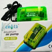 aerator pompa gelembung udara oxygen ikan hias amara aa-222 aa 222 ori