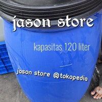 Gentong air biru 120 liter/Tong air besar 120 L/Tempat sampah biru