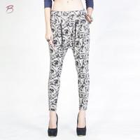 Celana Panjang Wanita / Heimo Cream Black Pants 43005T7CB - Bodytalk