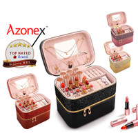 Tas Make Up Pouch Kosmetik Beauty Case Kosmetik 2 Layer - Seri Blink