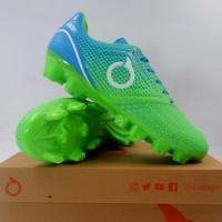 New Sepatu Bola OrtusEight Genesis FG Fluo Green Cyan White Original