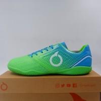 Baru Sepatu Futsal OrtusEight Genesis IN Fluo Green Cyan White Ori