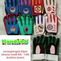 Sarung Tangan Kiper Goalkeeper Gloves Anak