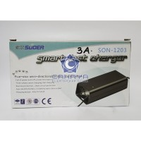 Cas Aki Suoer Otomatis 3A SON1203 Accu Charge Charger 12 Volt 3 Ampere