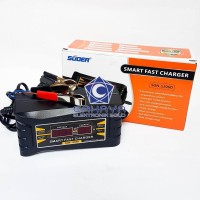 Suoer Charger 6A 12V Aki Mobil Motor Accu Otomatis 12 Volt 6 Ampere .