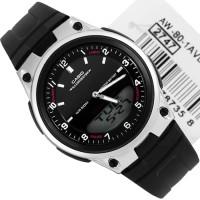 Jam Tangan Casio AW-80-1A Dual Time - Garansi Resmi