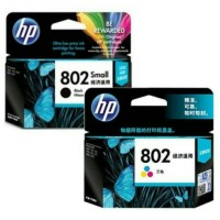Tinta hp catridge 802 black + 802 color ORIGINAL for Printer 1000 dll