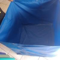 kolam terpal PVC semi karet 1x1x1m