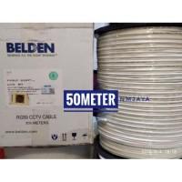 Kabel CCTV Rg59 Belden+Power [50meter] 75ohm Indoor Outdoor9105SL2P